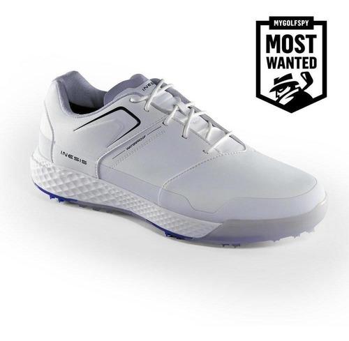 Calçado De Golf Masculino Grip Waterproof - Cor Branco