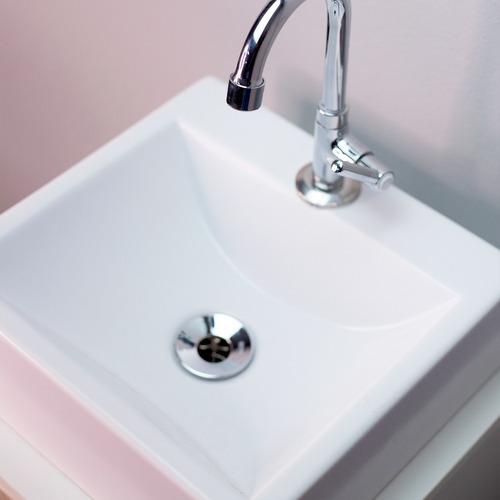 Cuba P/ Pia, Banheiro De Mármore Sintético -quadrada - 31cm