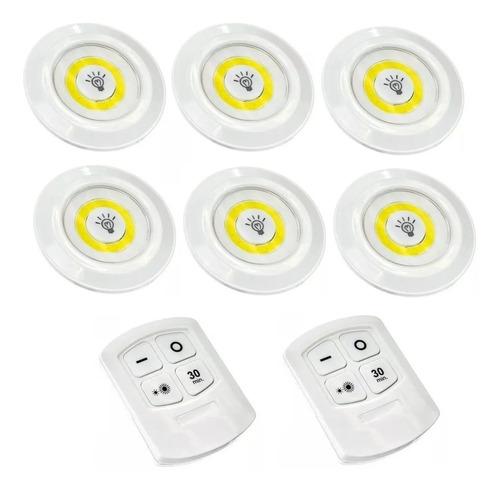 Lâmpada Spot Led Luminária Controle S/fio 6 Unidades Oferta
