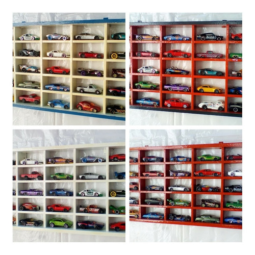 Repisa Organizador Para 25 Autitos Hot Wheels, Matchbox,