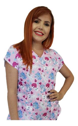 Blusa - Pijama Cirúrgico Scrub Veterinário - Gato