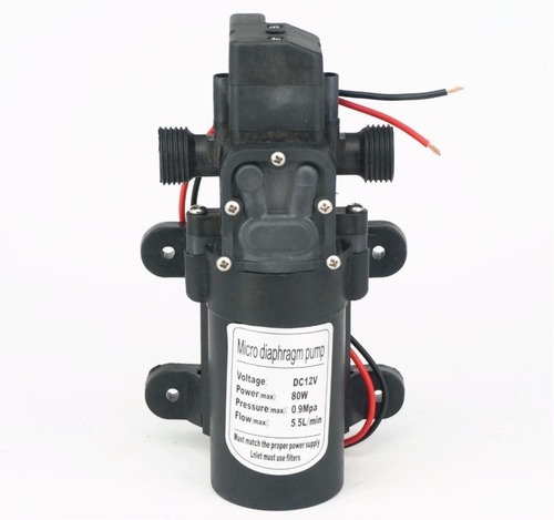 Bomba Pressurizadora 80w 12v 1.4 Gpm  Barcos Motorhome 300lh