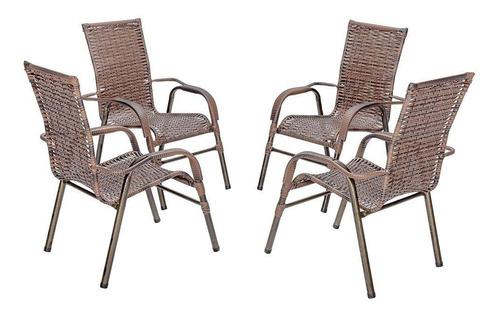 Cadeira Vime Fibra Junco Ratan Varanda Piscina Externa