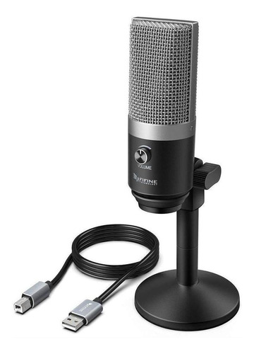 Microfone Fifine K670 Condensador  Cardióide Silver