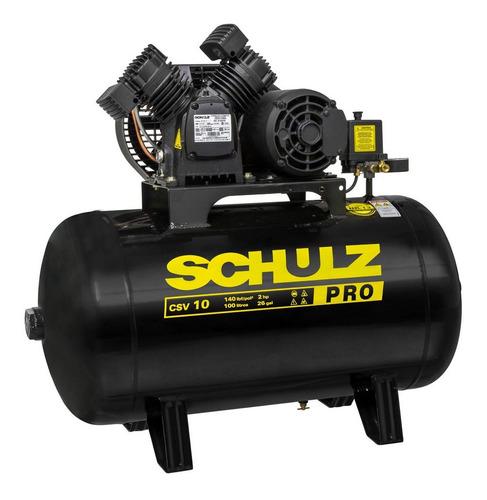Compressor De Ar 10 Pés 100l 140lb 2hp Csv-10/100 Pro Schulz