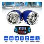 2pcs Motocicleta Guiador Bluetooth Usb Sd Fm Mp3 Alto falant