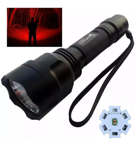 Linterna Roja C8 Xp-e N4, Ultrafire, Tecnología Brinyte