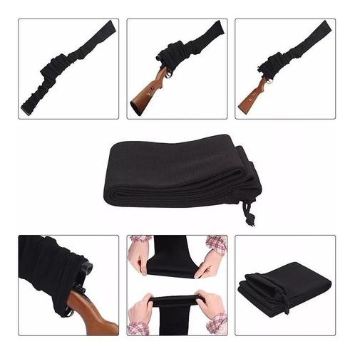 Gun Sock Meia Arma Longa Preta Carabina,rifle, Espingarda...