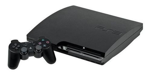 Playstation 3 Slim Sony Preto Usado Seminovo Hd
