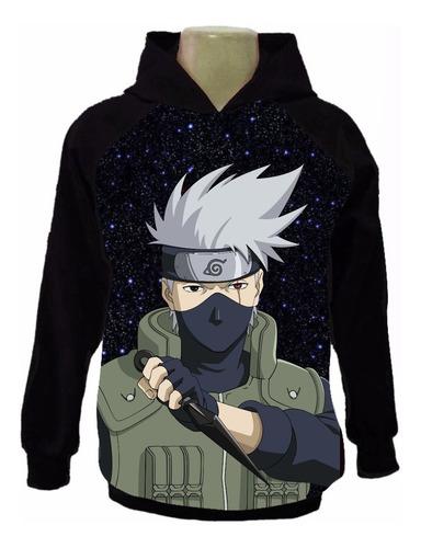 Casaco Moletom Kakashi Moleton Naruto Blusa Infantil