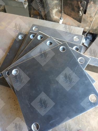 Platinas De Hierro Perforadas- Base Hierro Chapa Para Soldar