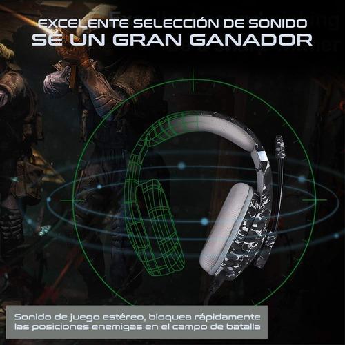 Onikuma K1b Pro Army Ps4 Camo Winter Gamer Headphones - Ecart