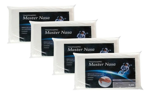 Kit De  4 Travesseiros Nasa Macio + 2 Capas