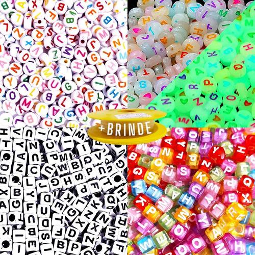 Kit 1000 Miçanga Infantil Letras-alfabeto-4 Modelos Promoção