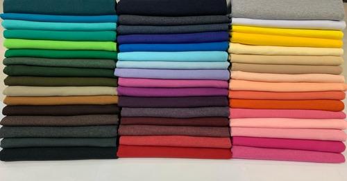Tecido De Malha Cotton 10%  1 Metro Varias Cores
