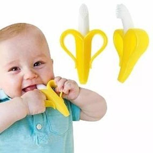 Mordedor Massageador Bebê Escova Banana Dentinhos Bpa Free