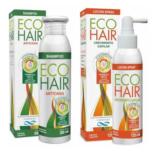 Eco Hair Anticaida Crecimiento Cabello Locion + Shampoo