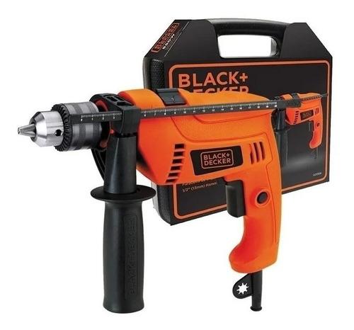 Taladro Eléctrico Percutor Black+decker Hd555k 2800rpm 550w Naranja 220v