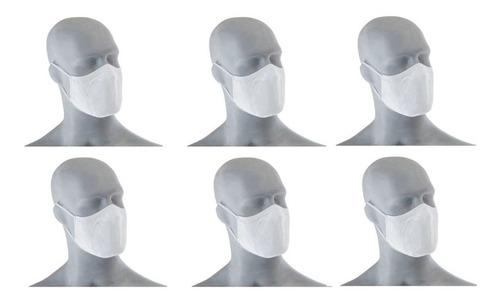 Kit 6 Mascaras Fit Lupo Dup. Camada Lav. Antimicrobial