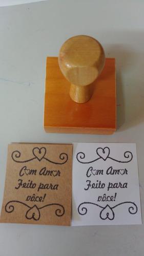 Carimbo De Madeira Personalizado