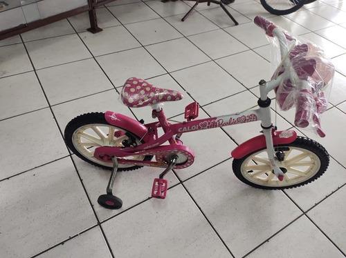 Bicicleta Aro 16 Original Caloi Barbie Completa Revisada.
