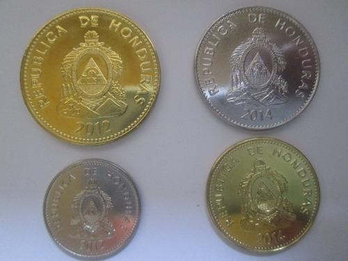 Set De Colección,  Cuatro Monedas De Honduras ( L 30
