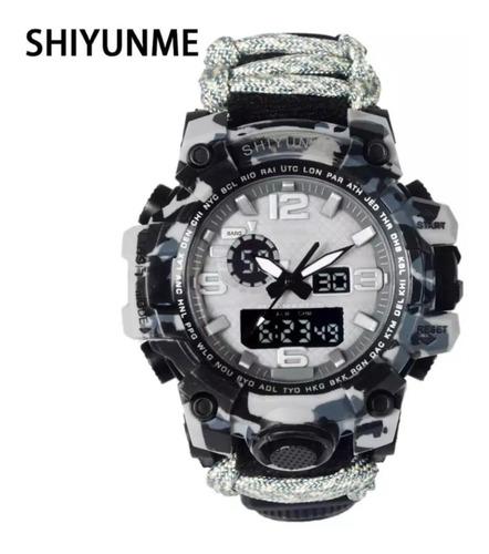 Relógio Masculino Militar Sobrevivência  Ajustável Shiyunme