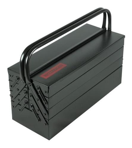 Caixa De Ferramentas Rotterman Rll-09 De Metal 20cm X 50cm X 25cm Preta