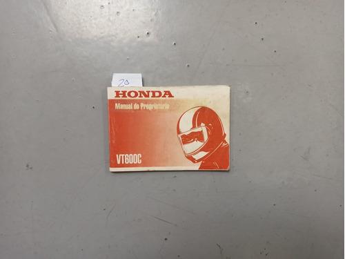 Honda - Manual Proprietário - Vt 600 C  1988 1989