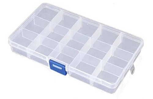 Organizador Plástico 15 Reparticiones Transp. Y Desmontable