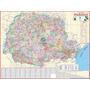 Mapa Estado Do Paraná Político Rodoviario 120x 90cm