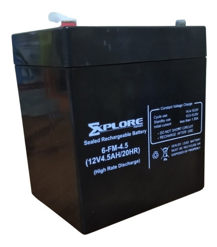 Batería De 12v 4.5ah Para Ups, Alarmas Y Cercos Electrico