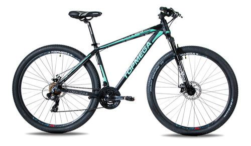 Mountain Bike Topmega Sunshine R29 M 21v Frenos De Disco Mecánico Cambios Shimano Tourney Tz31 Y Shimano Tourney Color Celeste