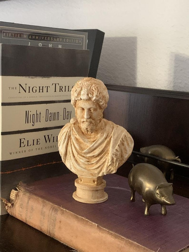 Escultura Estatua  Do Busto De Marco Aurélio Roma Itália