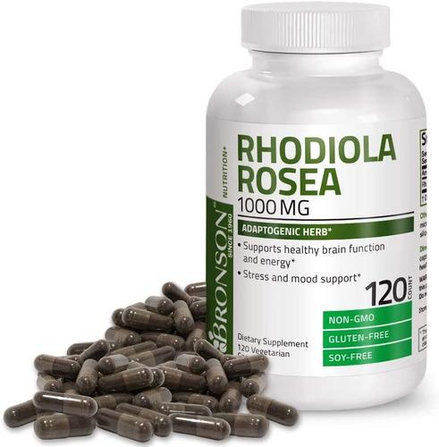 Bronson Rhodiola Rosea 1000 Mg - Hierba Adaptogenica Para E