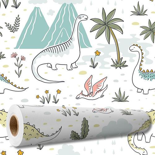 Papel De Parede Auto Adesivo Infantil Baby Dinossauro Dino
