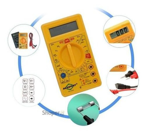 Multimetro Digital Com Teste Sinal Digital E Beep Sonoro Hfe