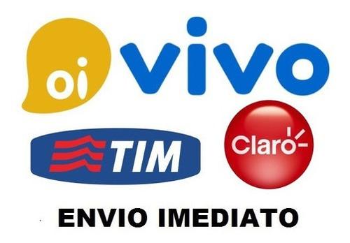 Recarga Celular Credito Online (oi,vivo,claro,tim) R$ 10