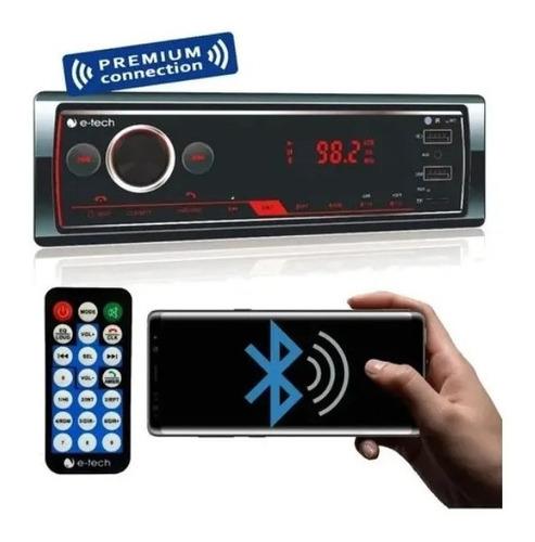 Radio Mp3 Automotiv E-tech Pre Bluetooth Usb Aux Sd Controle