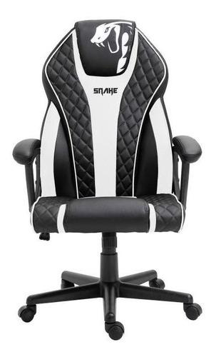 Cadeira Gamer Snake Naja Preta E Branca - 411