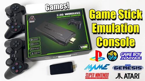 Video Game Stick 4k 14mil Jogos Retro 2 Controles Sem Fio