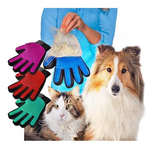 Luva Nano Magnético Tira Pelos Escova Pets Cães Gatos