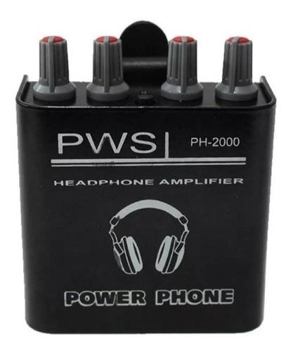 Amplificador Fone Pws Ph2000 Retorno Musicos Power Click