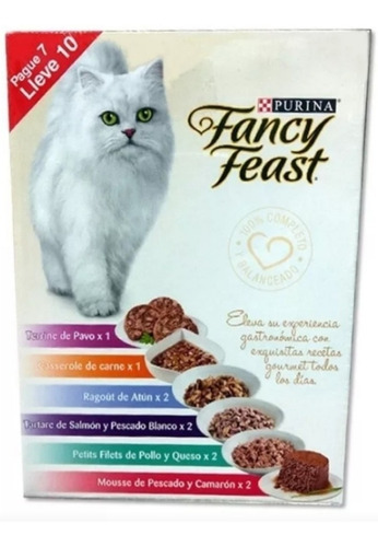 Fancy Feast X 10 Latas. - kg a $3500