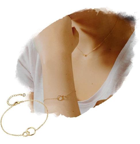 Citled - Pulsera De Oro Para Mujer, Diseño De Corazón Martil