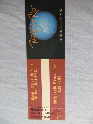 Ingresso Rock In Rio 1985