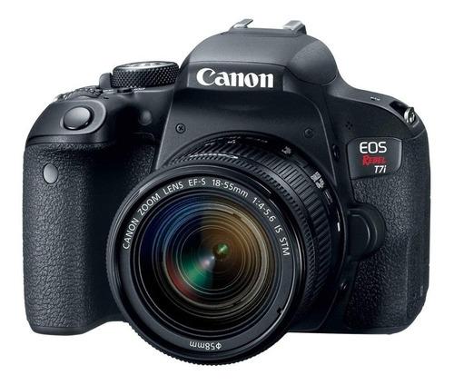 Canon Eos Rebel T7i 18 55mm Is Stm Kit Dslr Cor Preto