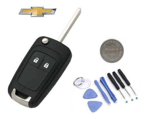 Carcasa Llave Control Auto Chevrolet 2 Botones Trax Sonic
