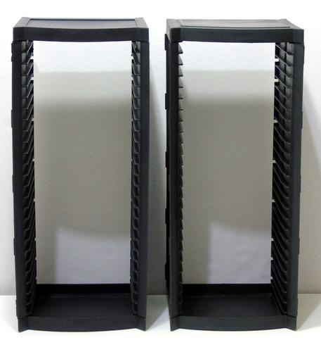 L 374 - Porta Cd's/dvd's De Plástico Reforçado P/25 Peças