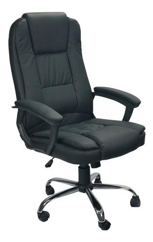 Cadeira Presidente Poltrona Escritório Giratória Couro Braço